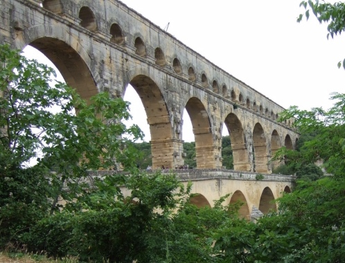Image of Pont Du Gard in southern France.