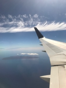 Image of Hawaii from a plane.