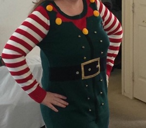 Image of a woman wearing an elf outfit