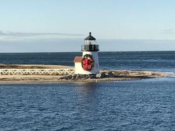Nantucket Lighthouse at Christmas