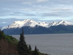 Image of snow-capped mountains in Alaska