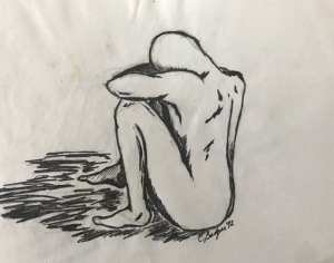 Image of a person grieving