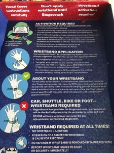 Image of Stagecoach Wristband Instructions