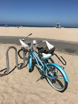 Image of a bike at the beach.