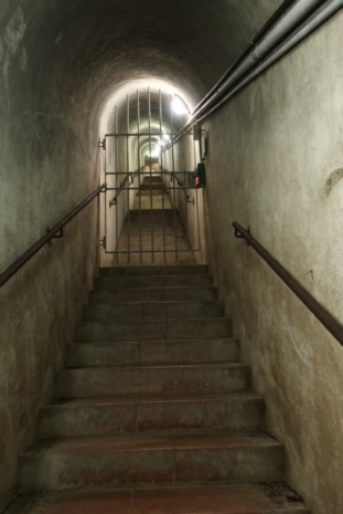Image of the stairway leading to Nazi bunkers.