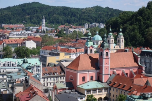 Image of Ljubljana from above.