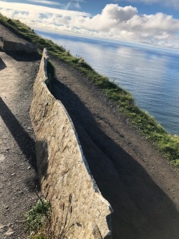 Image of a wall at the Cliffs of Moher.