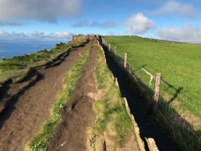 Image of paths at the Cliffs of Moher