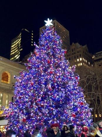 Image of Bryant Park Christmas Tree