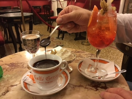 Image of drinking chocolate in Caffe Greco