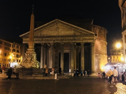 Image of the Pantheon at Night