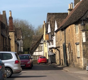 Image of small two-way road in Lacock, England