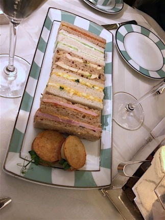 Image of tea sandwiches at Claridge's.