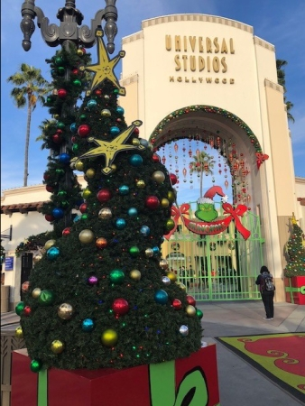 Image of Christmas Decorations at Universal Stuidos