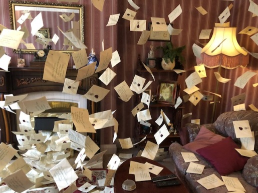 Image of room filled with Harry Potter's Letters from Hogwarts