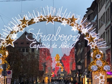 Image of Christmas sign in Strausourg.