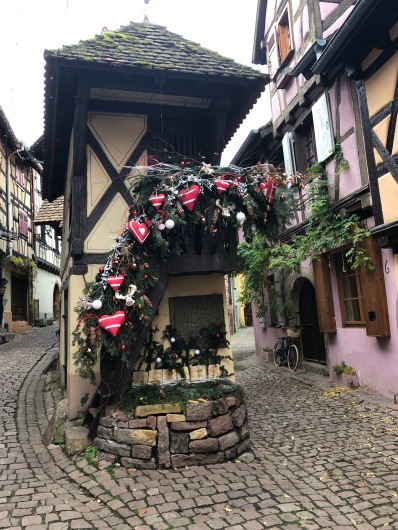 Image of Christmas Hearts Decor in Eguisheim