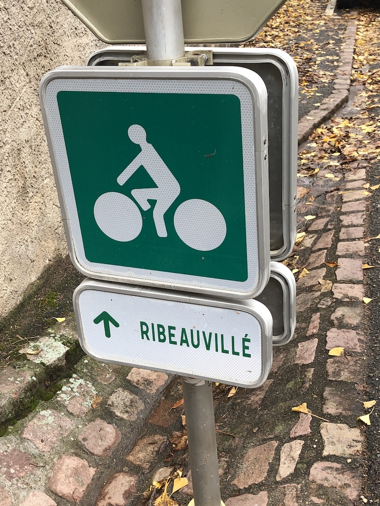 Image of road sign to Ribeauville