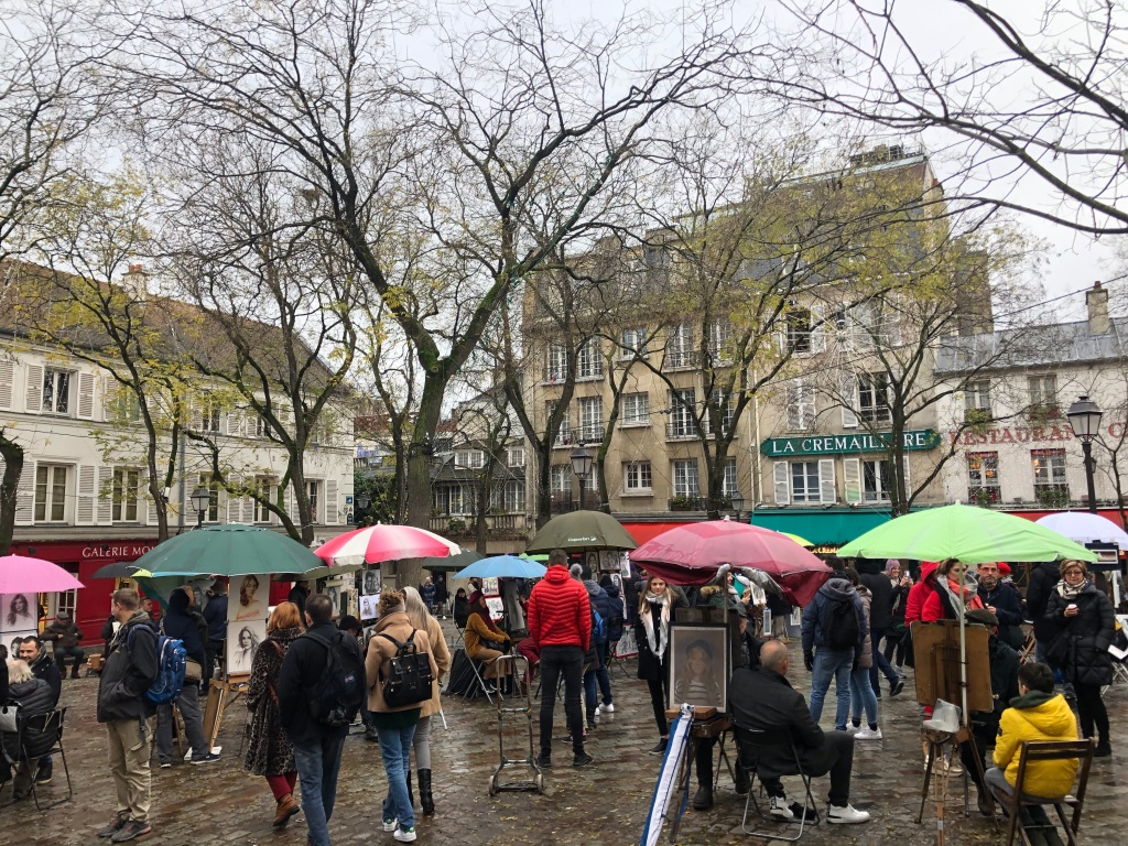 Image of the Place du Tertre in Montmartre