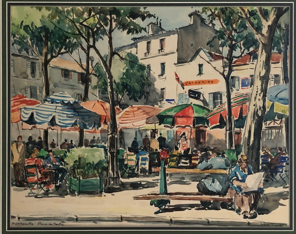 Painting of the Place de Tertre